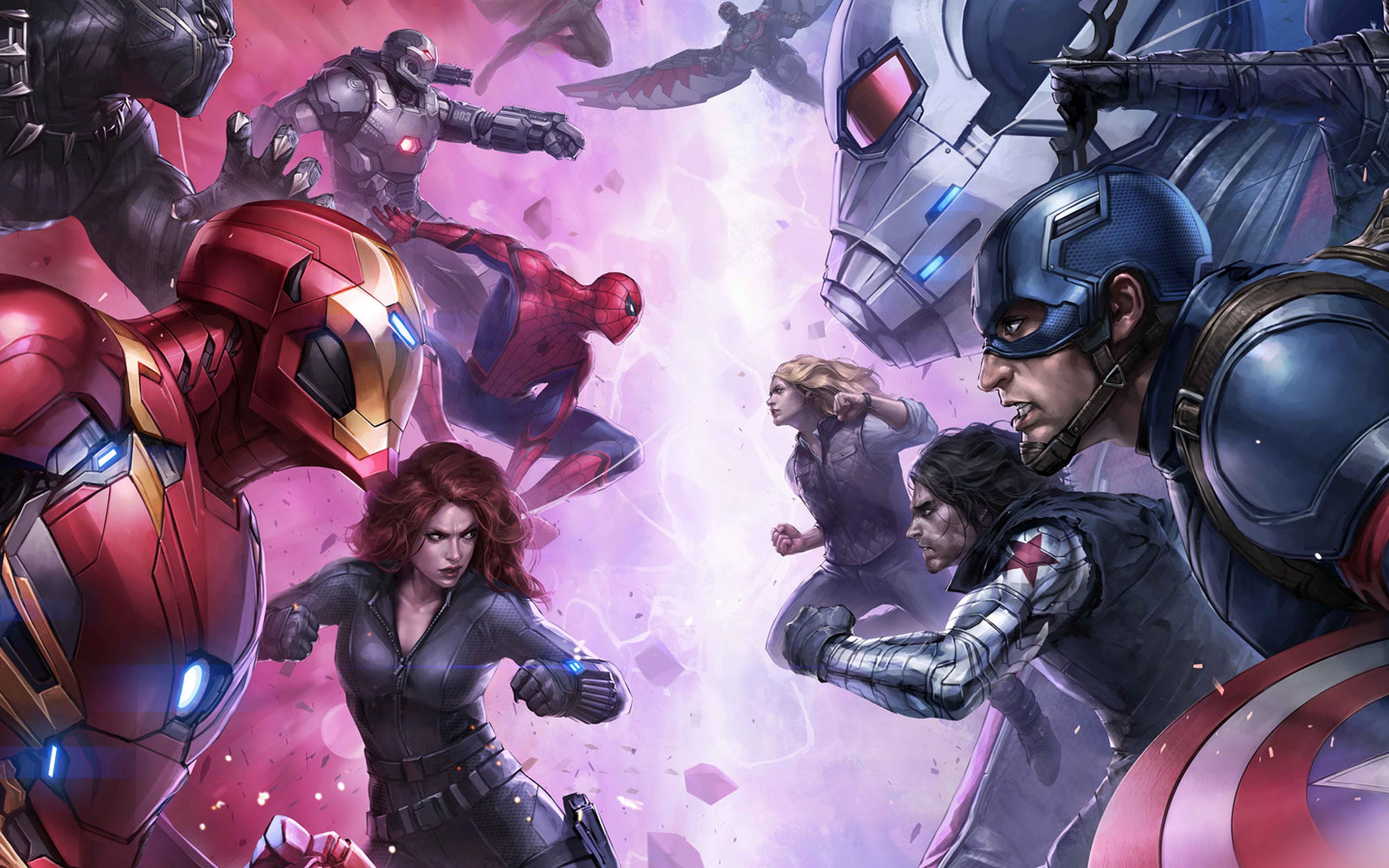 Bj07 Marvel Futurefight Hero Anime Art Wallpaper
