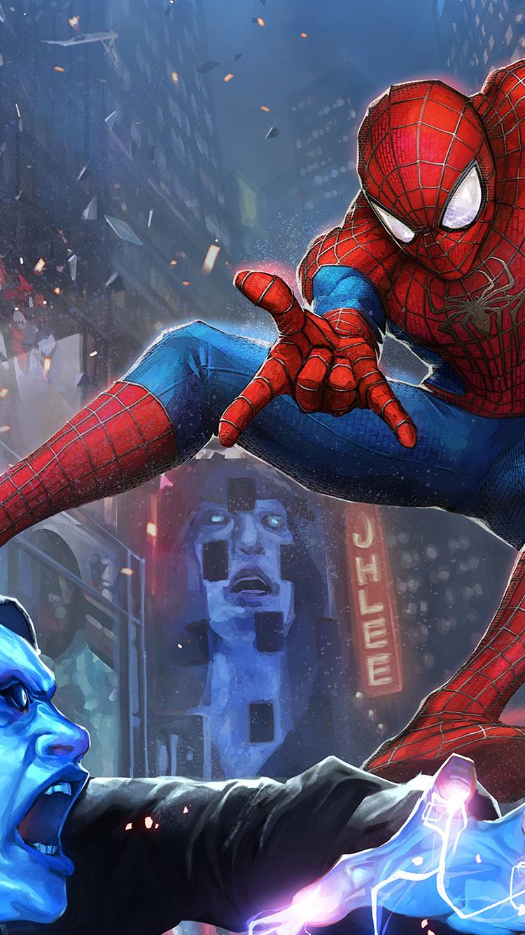 Papers.co-iPhone5-iphone6-plus-wallpaper-bj11-hero-spiderman-marvel-art