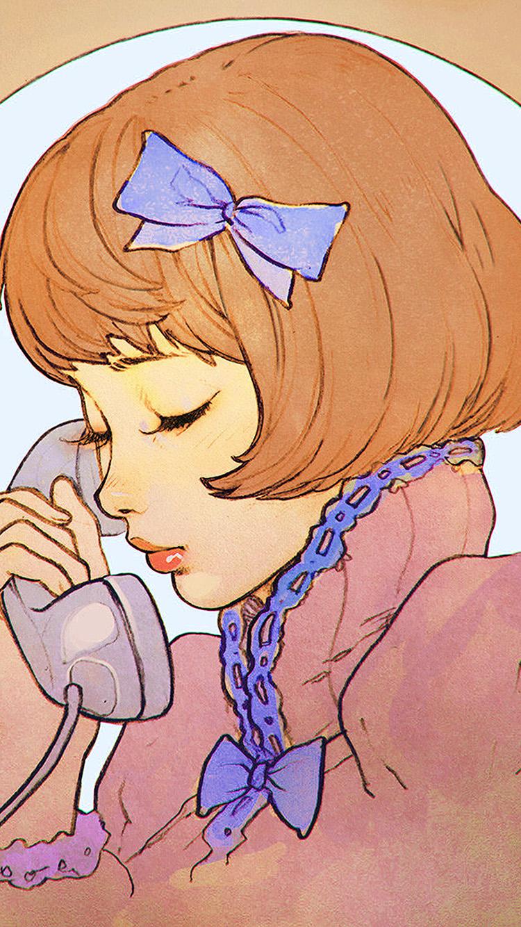 iPhone7papers.com-Apple-iPhone7-iphone7plus-wallpaper-bj14-orange-phone-girl-cute-anime-drawing-art-ilya