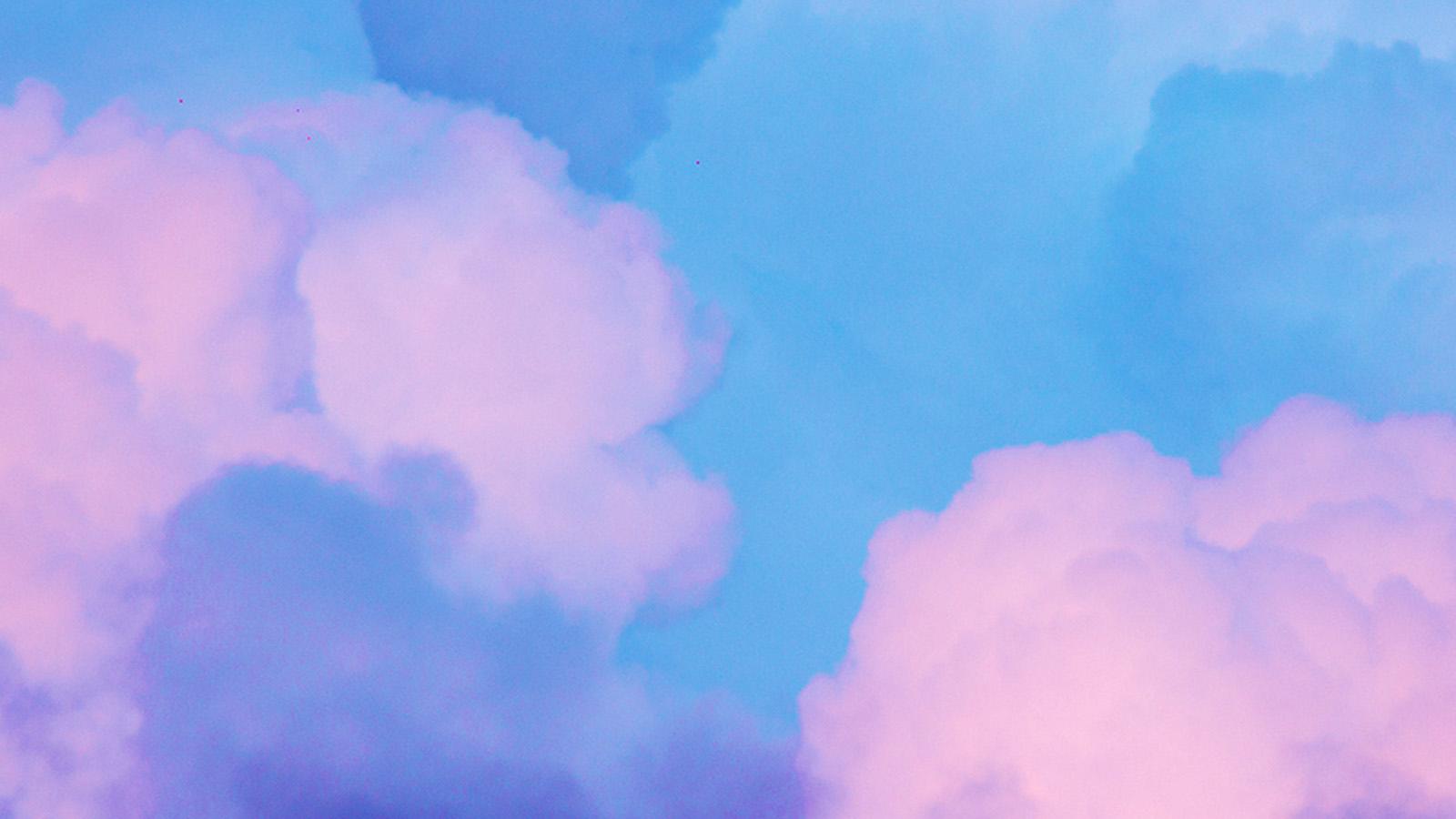 Bj16 Sky Blue Pastel Art Wallpaper