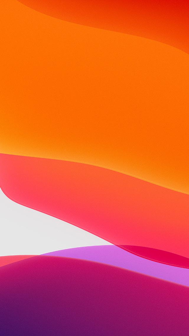 papers.co bj42 apple iphone ios13 background orange art 4 wallpaper