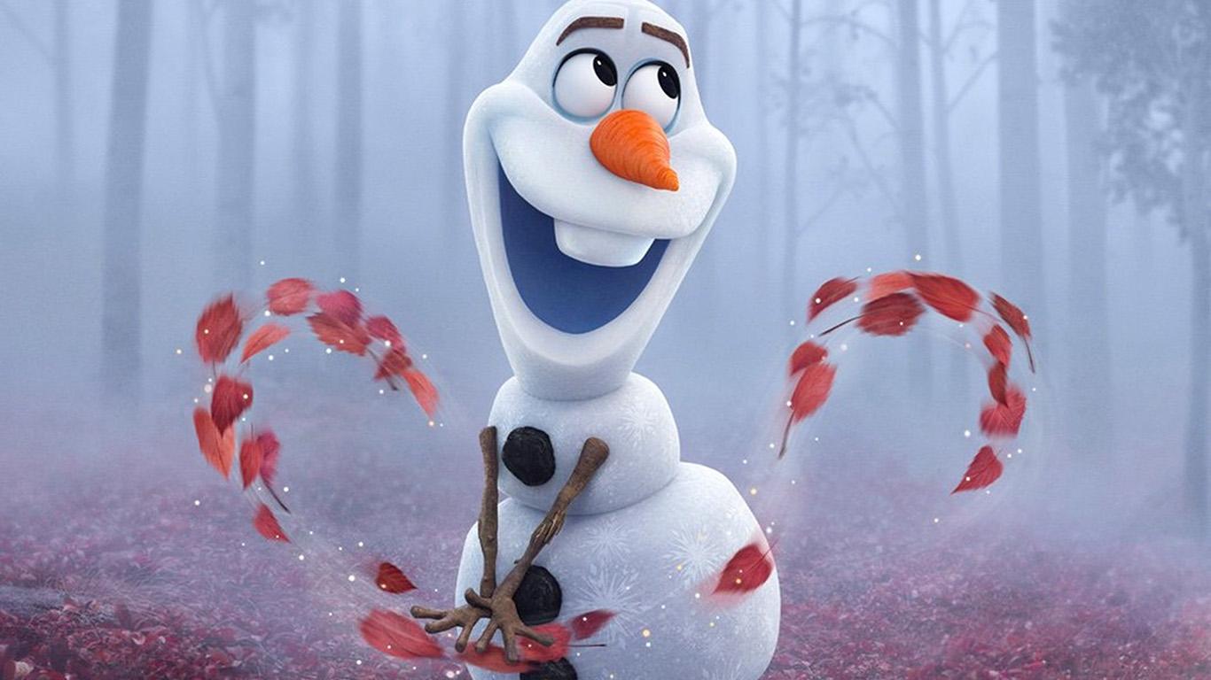 Wallpaper For Desktop Laptop Bj52 Frozen Olaf Cute Disney Film Art