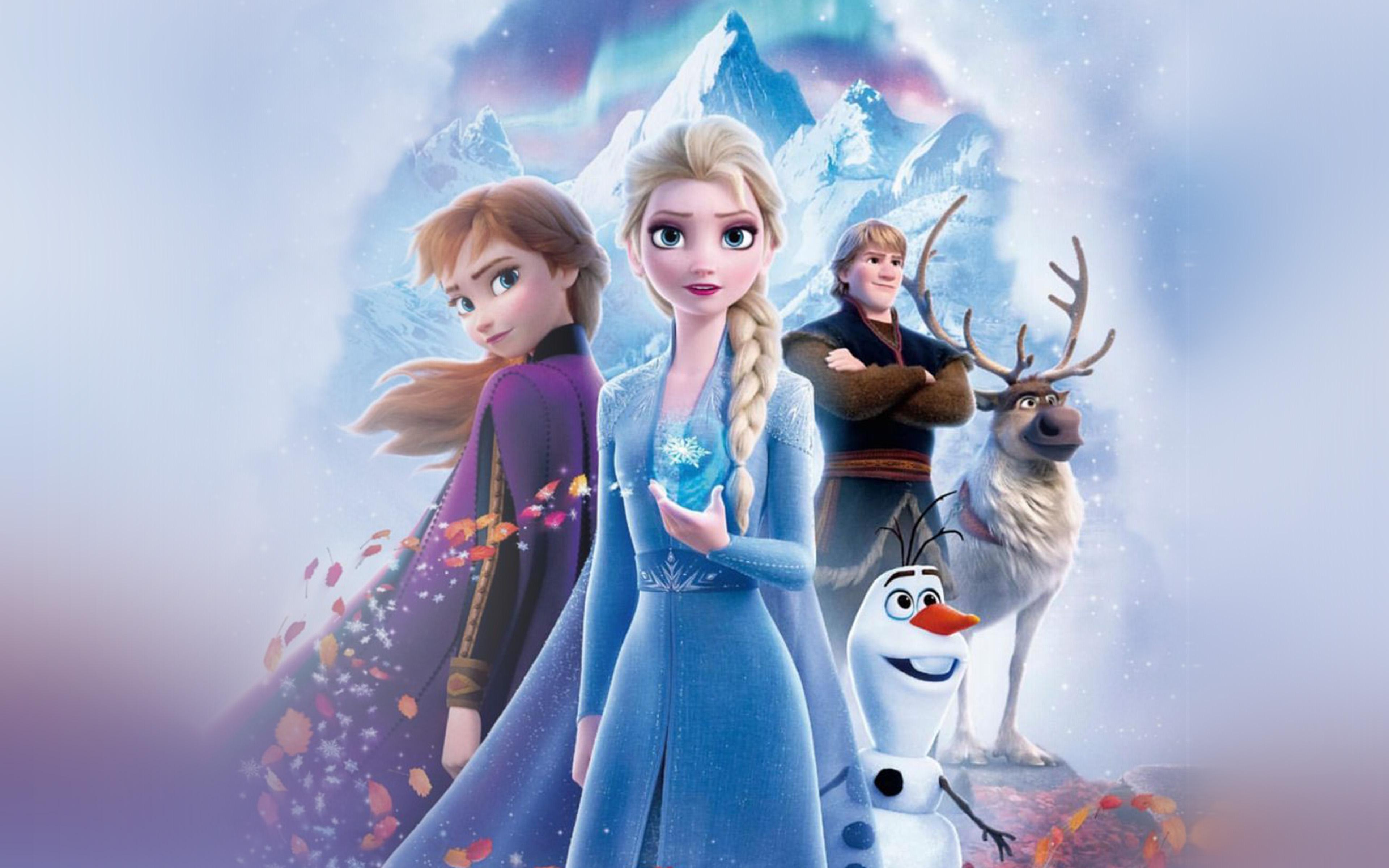 Bj54 Frozen Poster Disney Film Winter Anime Art Wallpaper