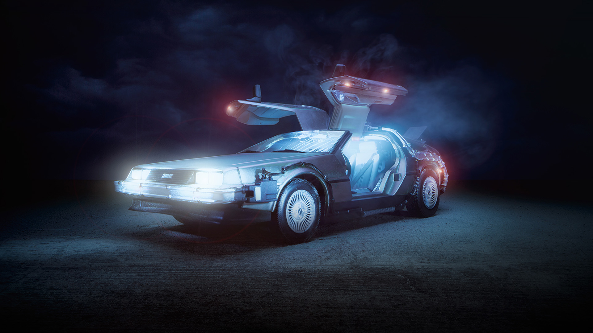 Bj67 Art Back Tothe Future Car Film Wallpaper