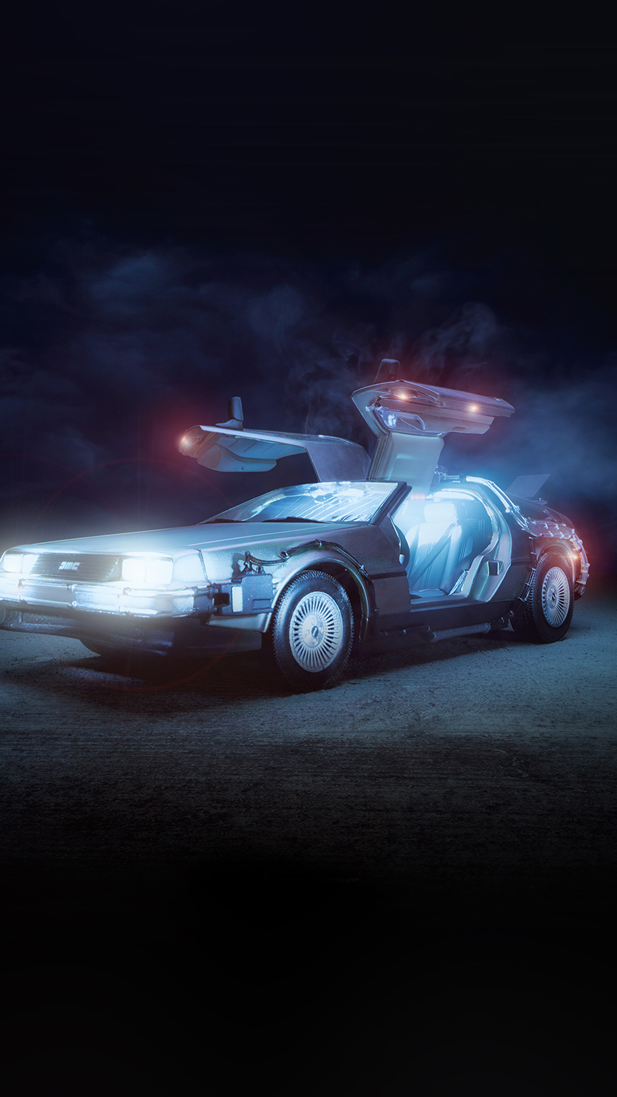 Bj67 Art Back Tothe Future Car Film Wallpaper