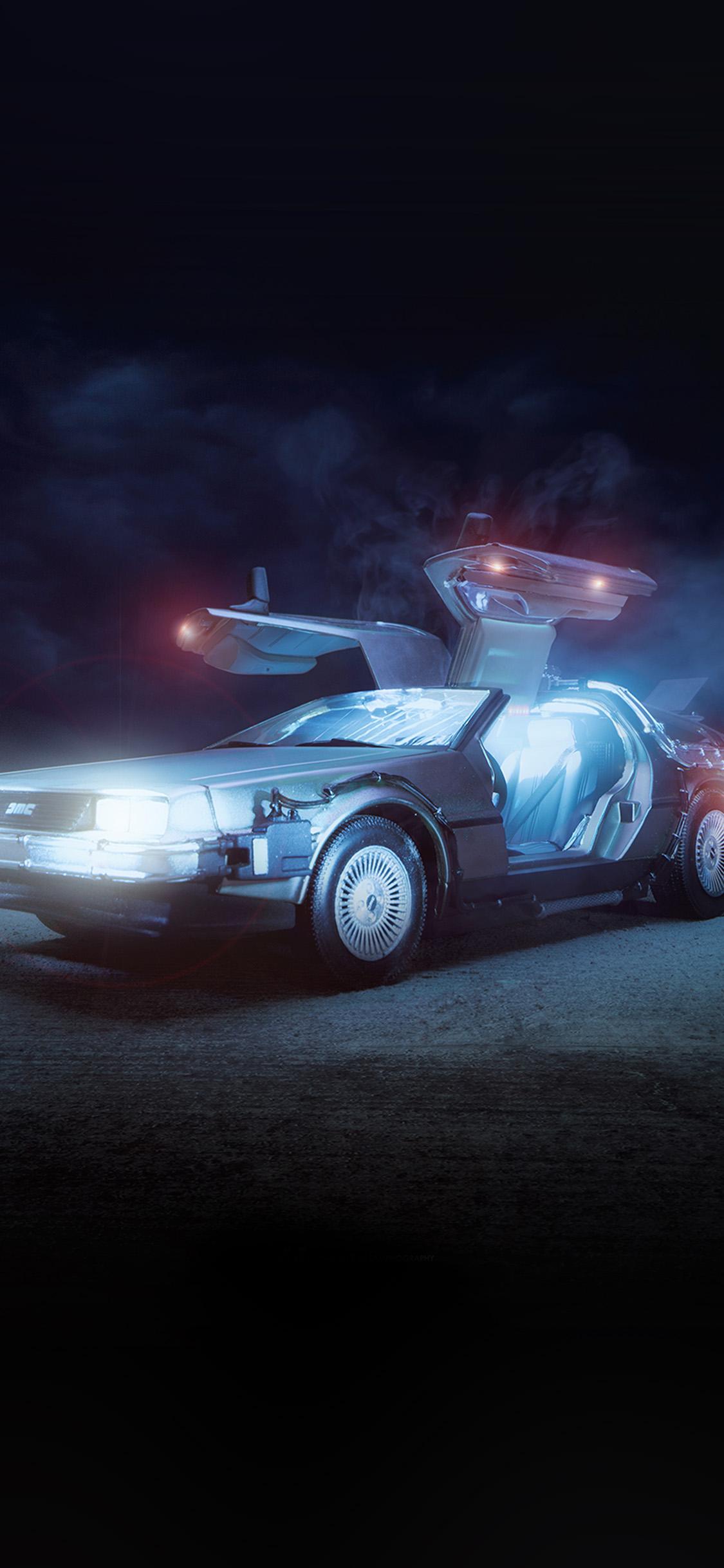 iPhonexpapers.com-Apple-iPhone-wallpaper-bj67-art-back-tothe-future-car-film