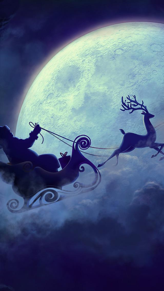 freeios8.com-iphone-4-5-6-plus-ipad-ios8-bj82-art-christmas-santa-night