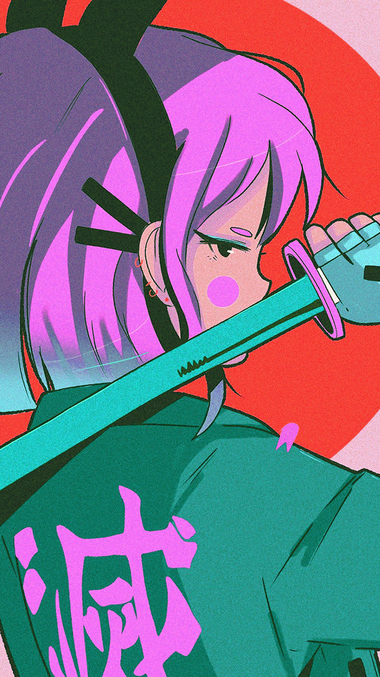 iPhone7papers.com-Apple-iPhone7-iphone7plus-wallpaper-bj91-art-japan-girl-illust-sword-red