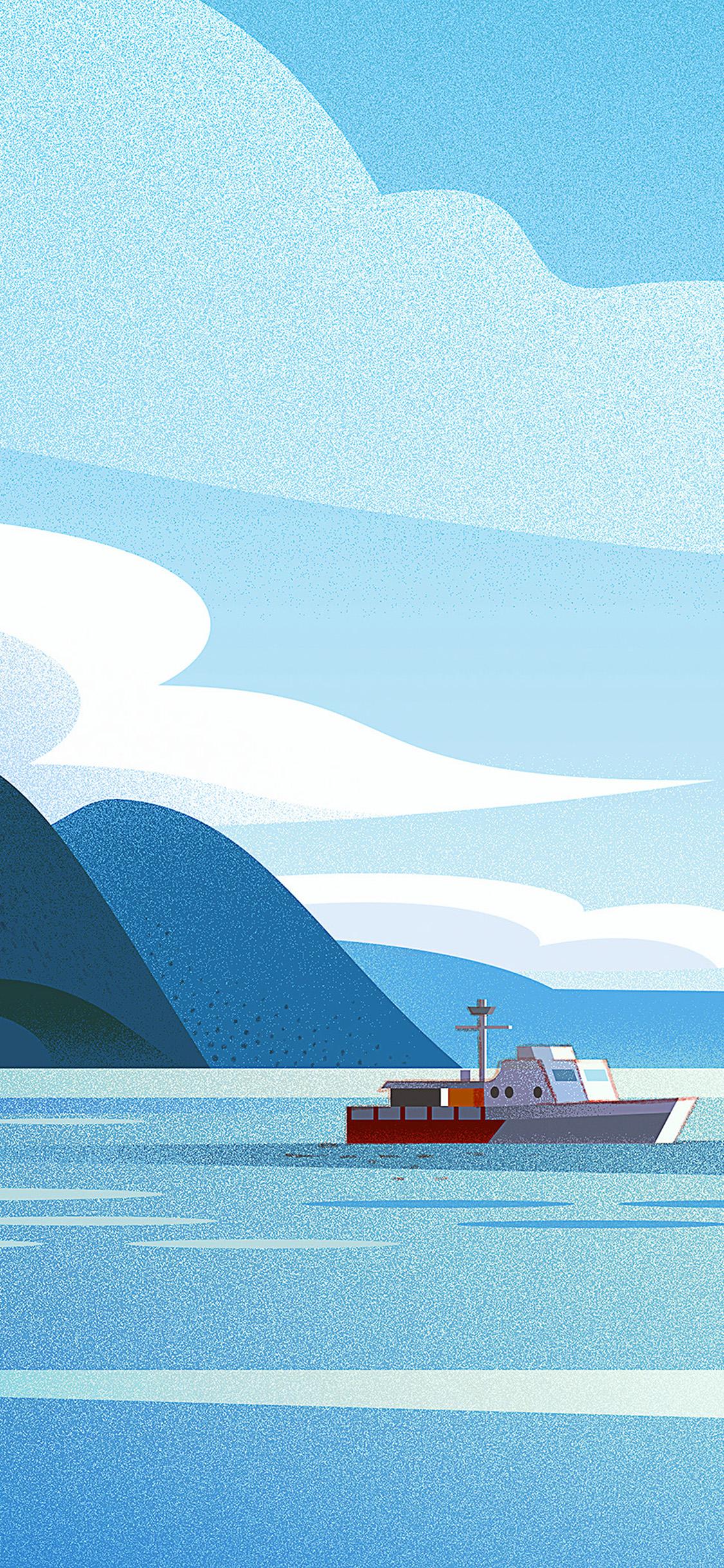 iPhonexpapers.com-Apple-iPhone-wallpaper-bj98-art-boat-illust-sea