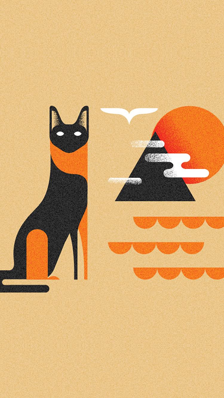 iPhone7papers.com-Apple-iPhone7-iphone7plus-wallpaper-bk17-art-cat-illust-minimal-simple