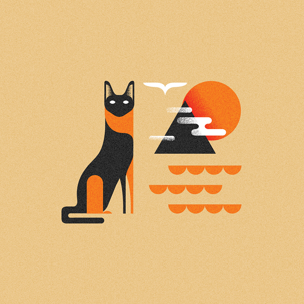 android-wallpaper-bk17-art-cat-illust-minimal-simple-wallpaper