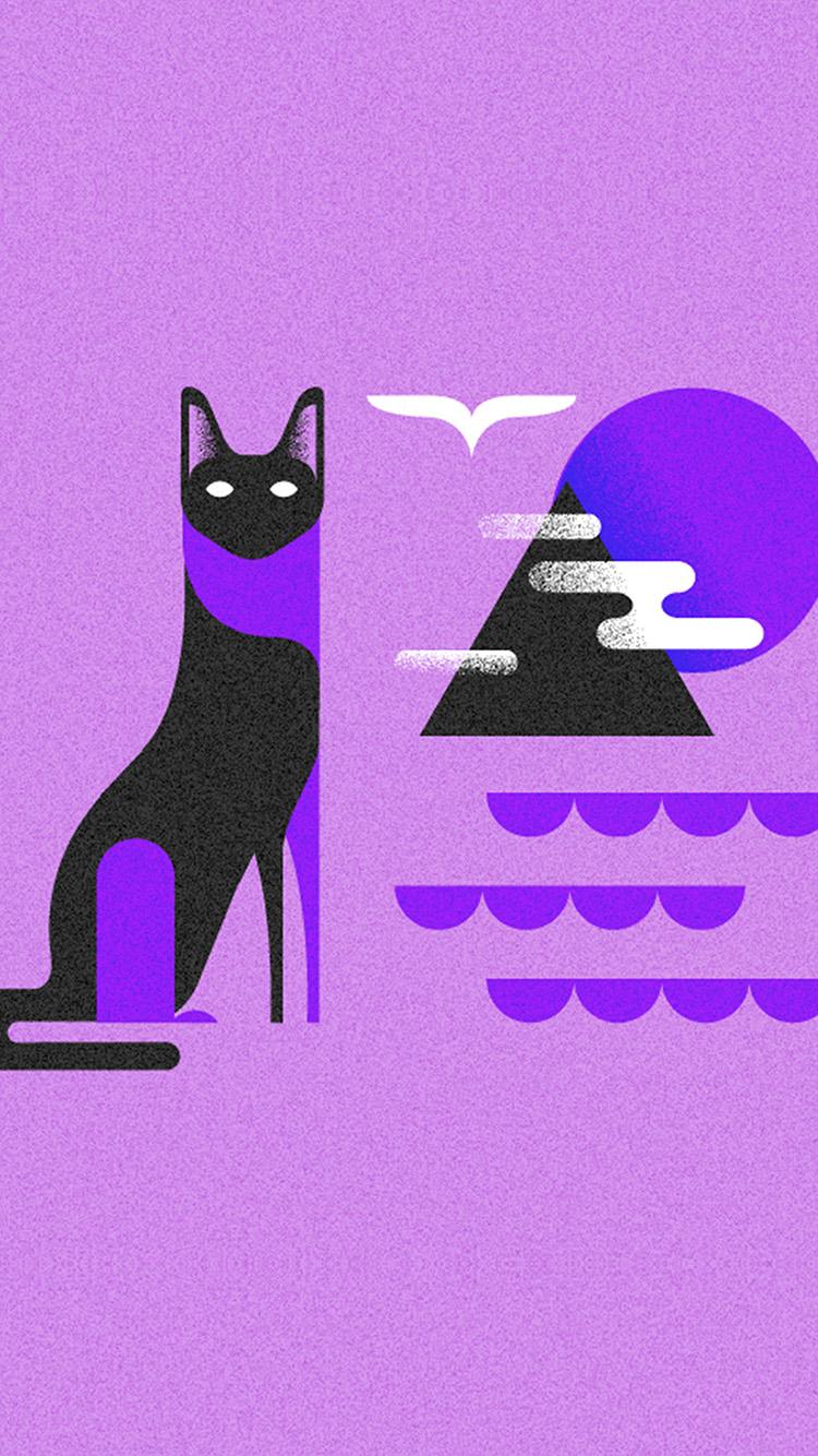 iPhone7papers.com-Apple-iPhone7-iphone7plus-wallpaper-bk18-art-cat-illust-minimal-simple-purple