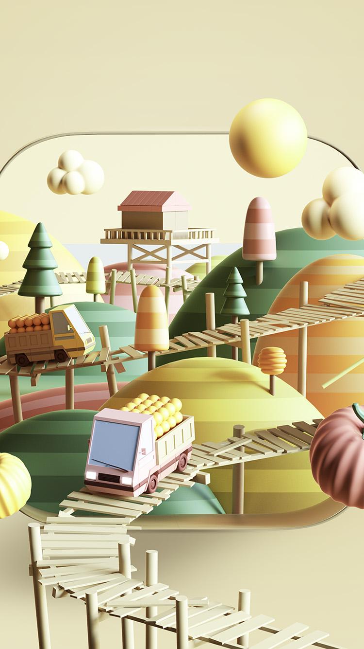 iPhone7papers.com-Apple-iPhone7-iphone7plus-wallpaper-bk28-art-illust-3d-cute-town