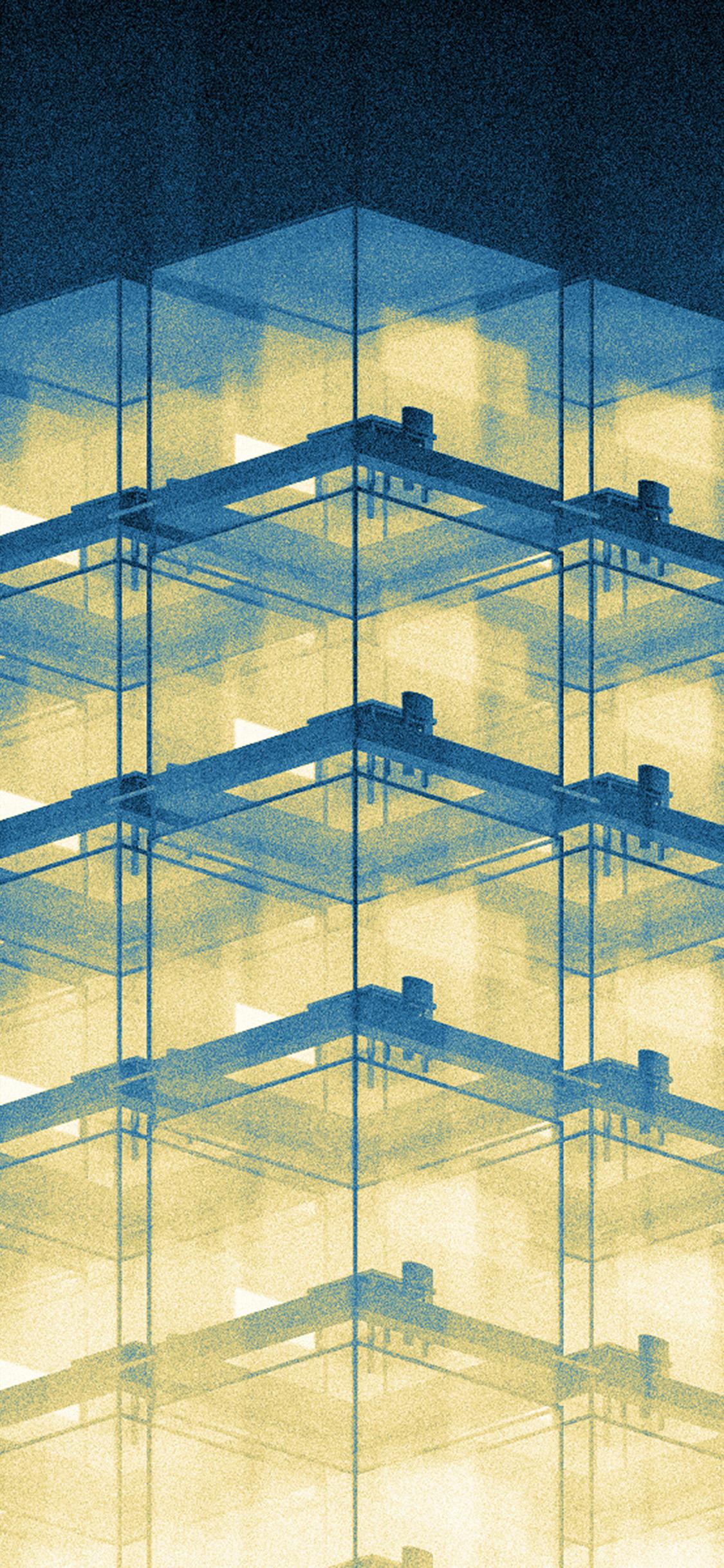 iPhonexpapers.com-Apple-iPhone-wallpaper-bk33-art-office-building-blue-illust