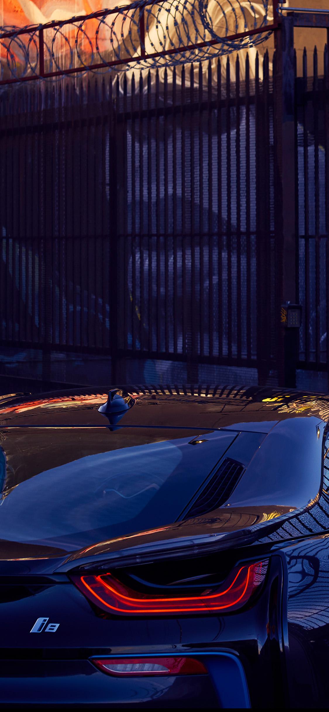 Iphone11papers Com Iphone11 Wallpaper Bk58 Art Car Bmw Blue Reflection