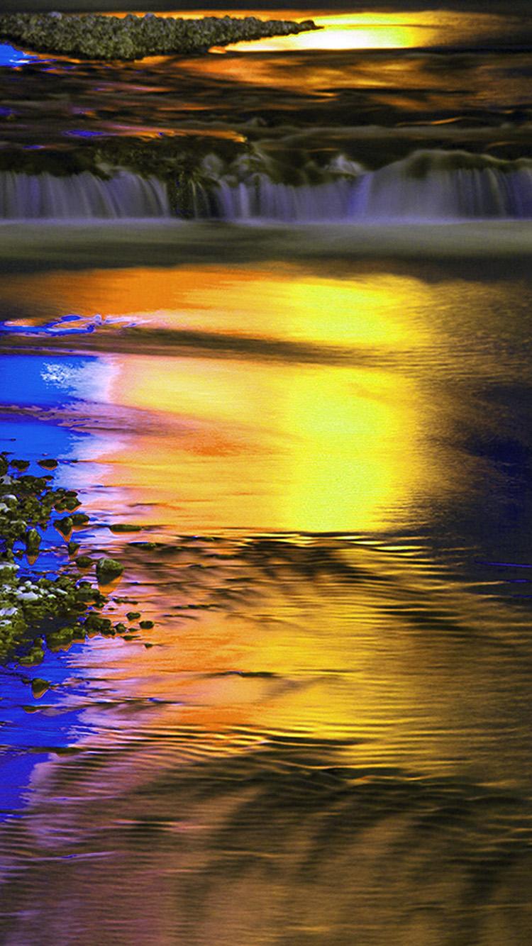 iPhone7papers.com-Apple-iPhone7-iphone7plus-wallpaper-bk78-art-nature-blue-light-waterfall