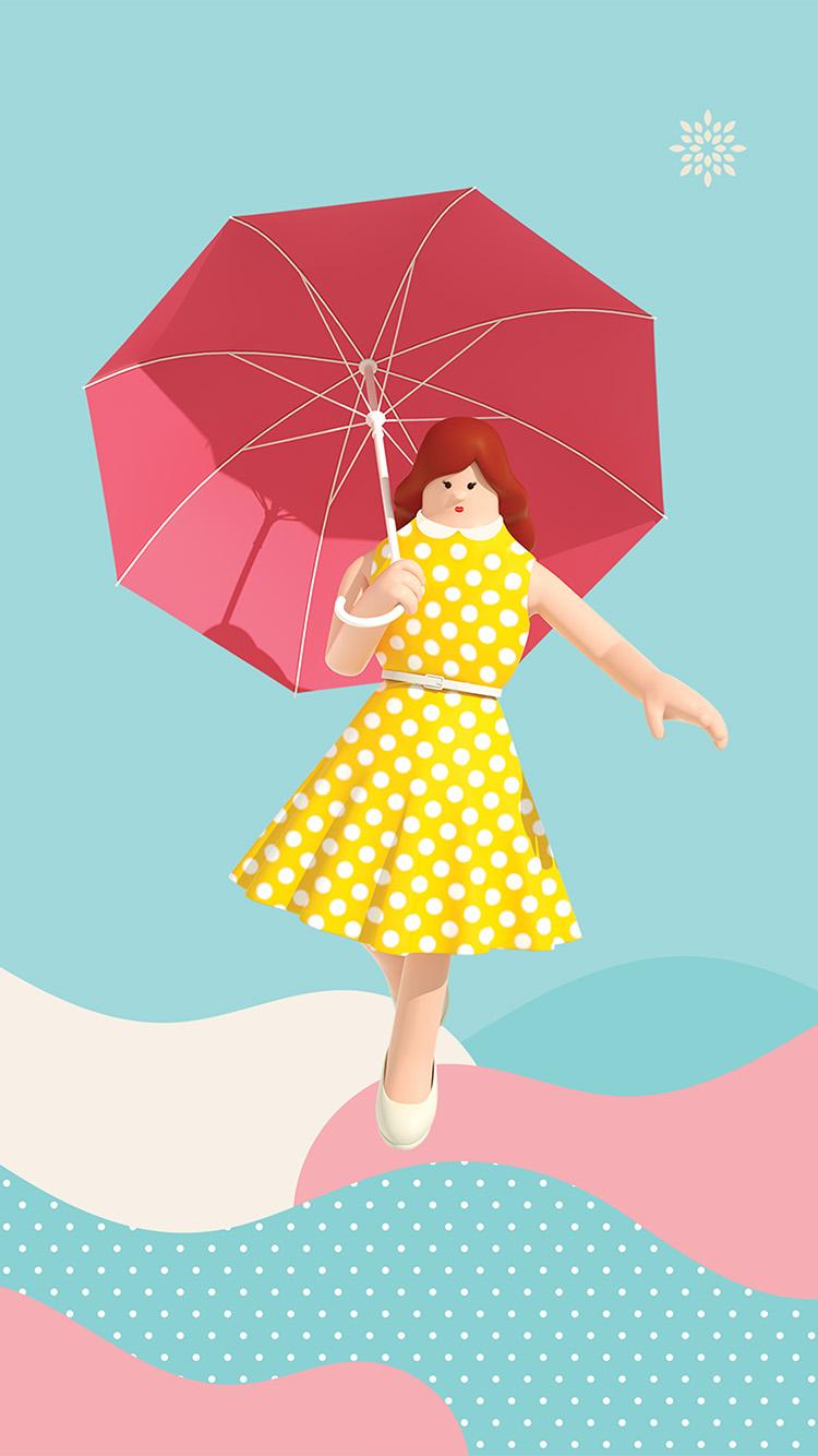 iPhone7papers.com-Apple-iPhone7-iphone7plus-wallpaper-bk94-art-illust-umbrella-cute