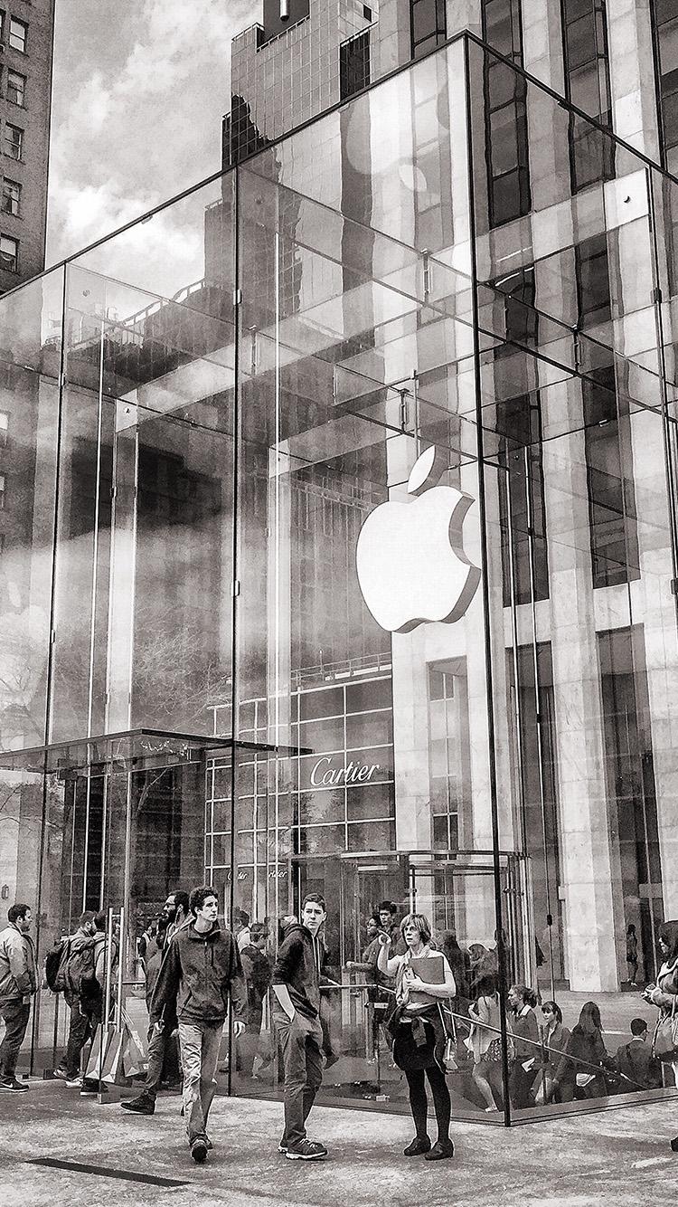 iPhone7papers.com-Apple-iPhone7-iphone7plus-wallpaper-bl12-art-apple-store-newyork-city-bw