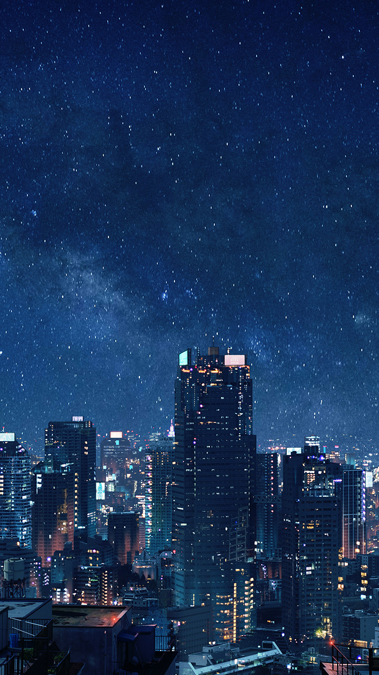 iPhone7papers.com-Apple-iPhone7-iphone7plus-wallpaper-bl95-art-night-anime-city
