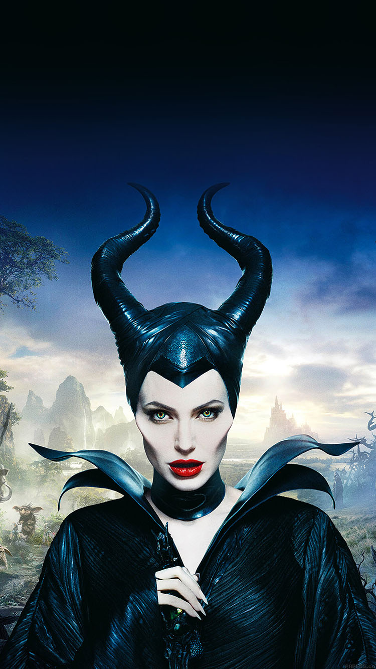iPhonepapers.com-Apple-iPhone8-wallpaper-ha30-angelina-jolie-maleficent-poster-disney-face