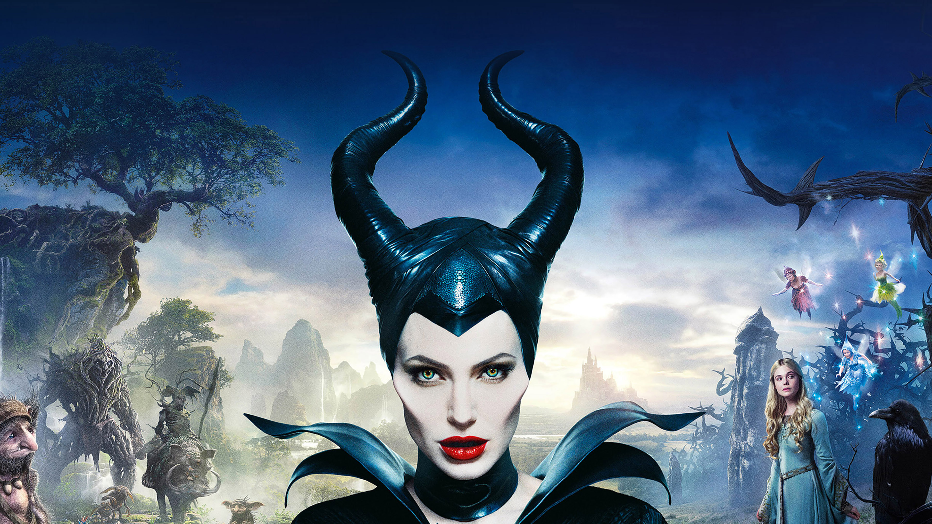 Ha30 Angelina Jolie Maleficent Poster Disney Face Papers Co