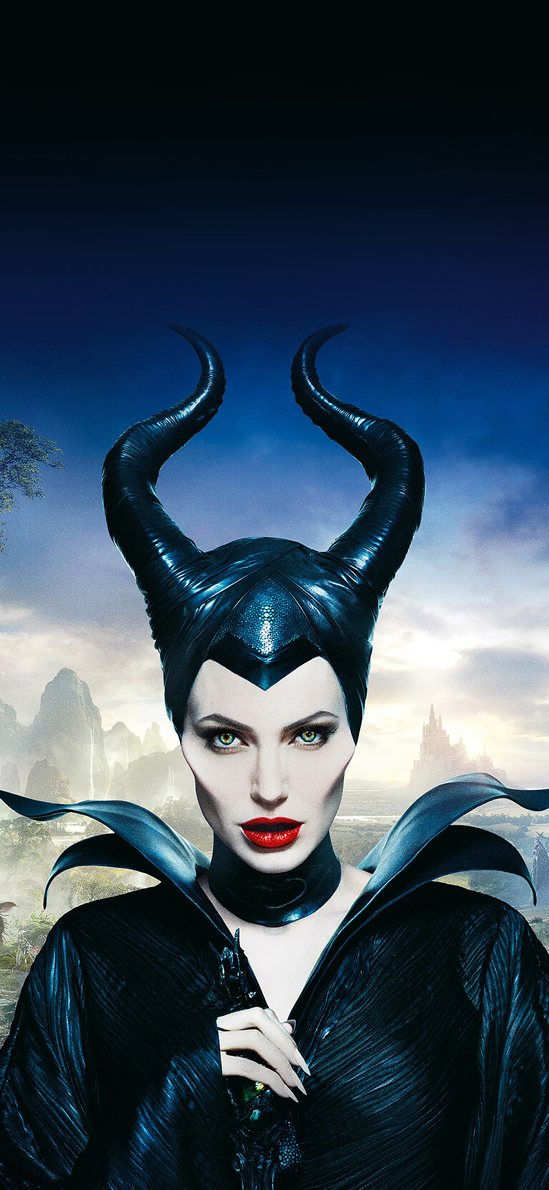 iPhoneXpapers.com-Apple-iPhone-wallpaper-ha30-angelina-jolie-maleficent-poster-disney-face