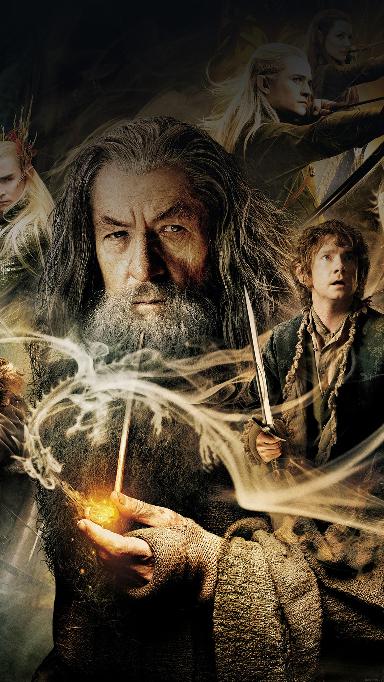 Ha48 Wallpaper Desolation Of Smaug Hobbit Film Face Papers Co