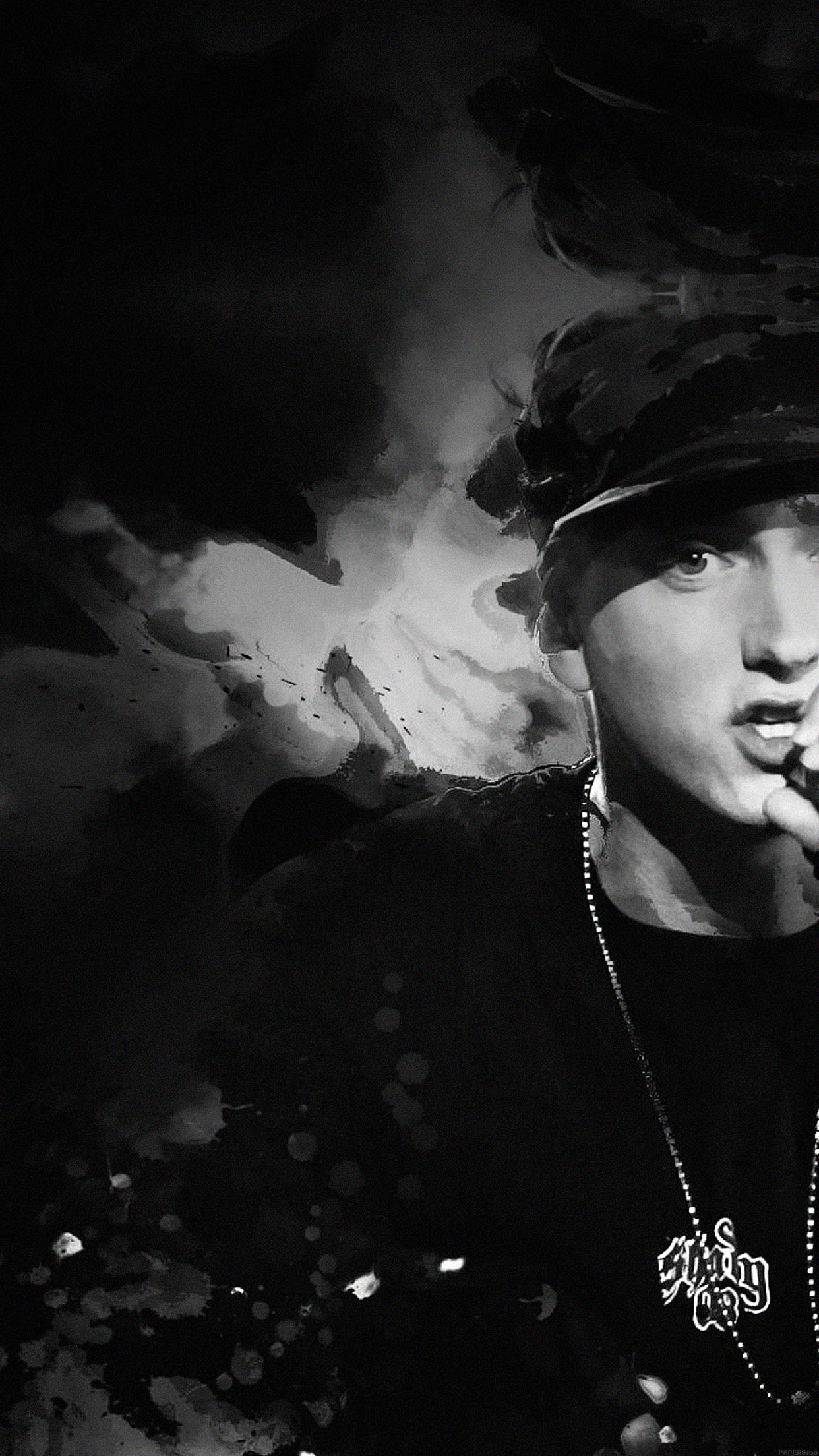 iphone7papers - ha50-wallpaper-eminem-music-face