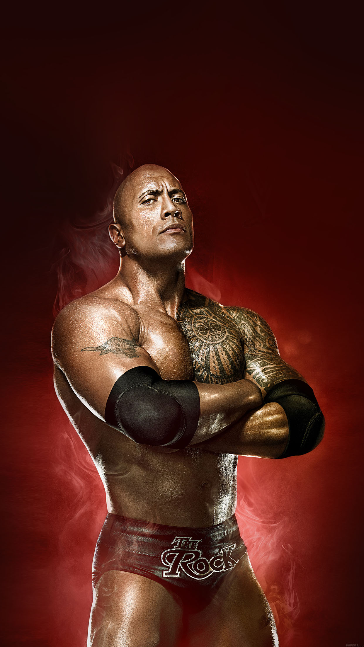 iphonepapers - ha85-wallpaper-wwe-rock-champion