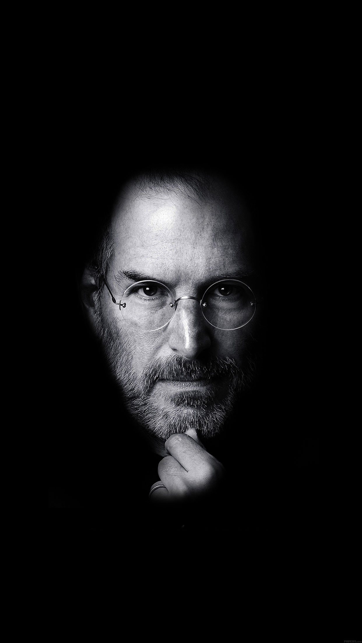 iPhone6papers ha87 wallpaper steve jobs face apple