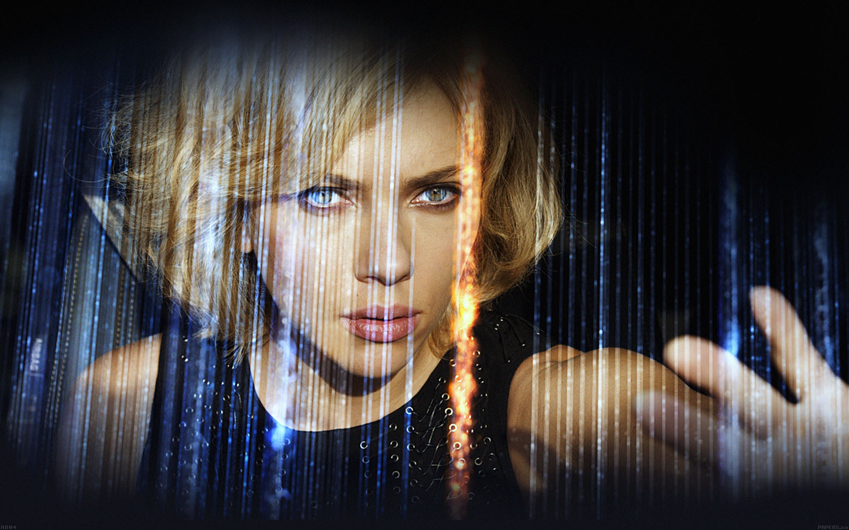Hb04 Wallpaper Lucy Film Scarlett Johansson Sexy Face