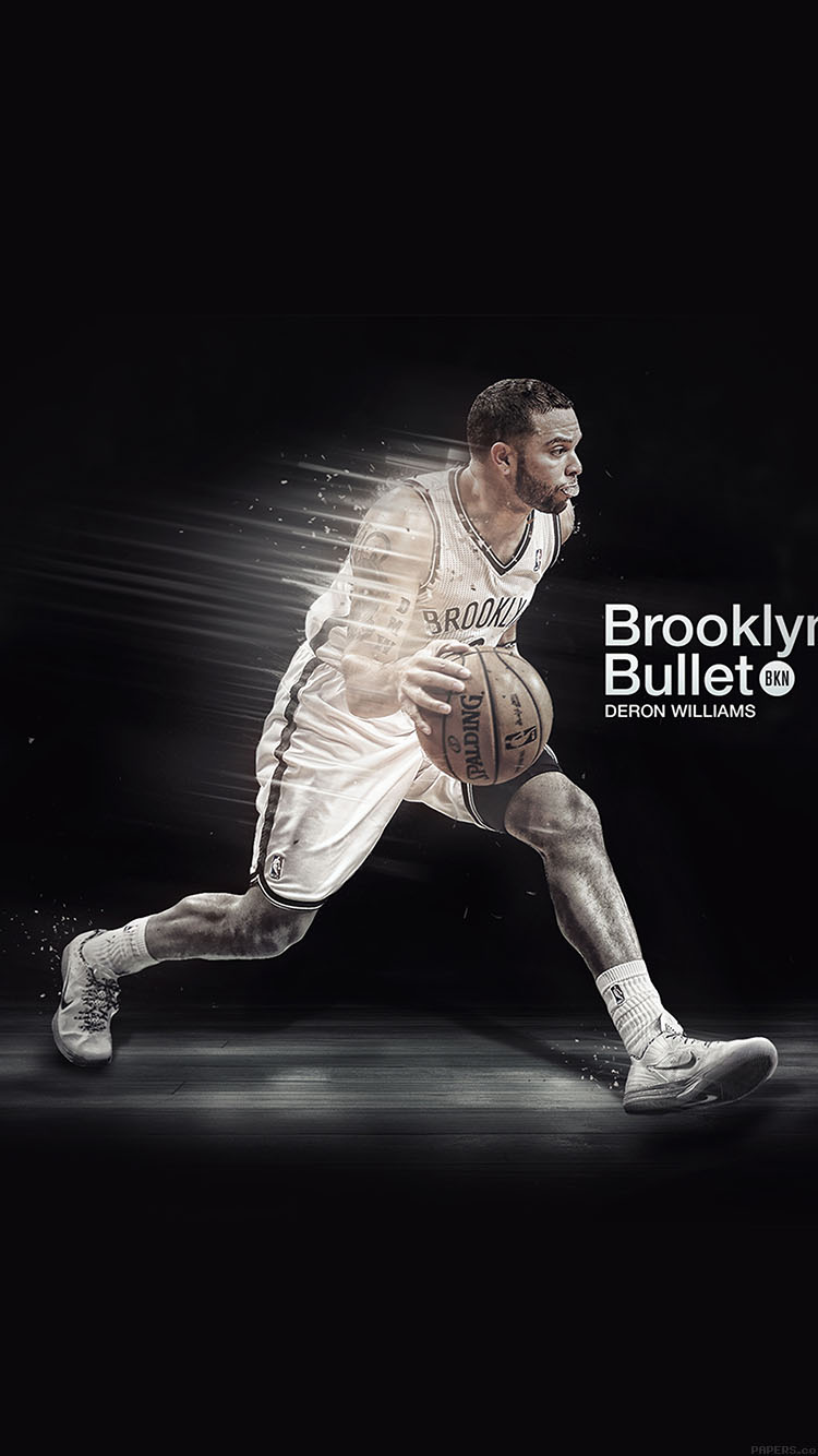 Iphone6papers Hb06 Wallpaper Deron Williams Brooklyn Bullet Nba