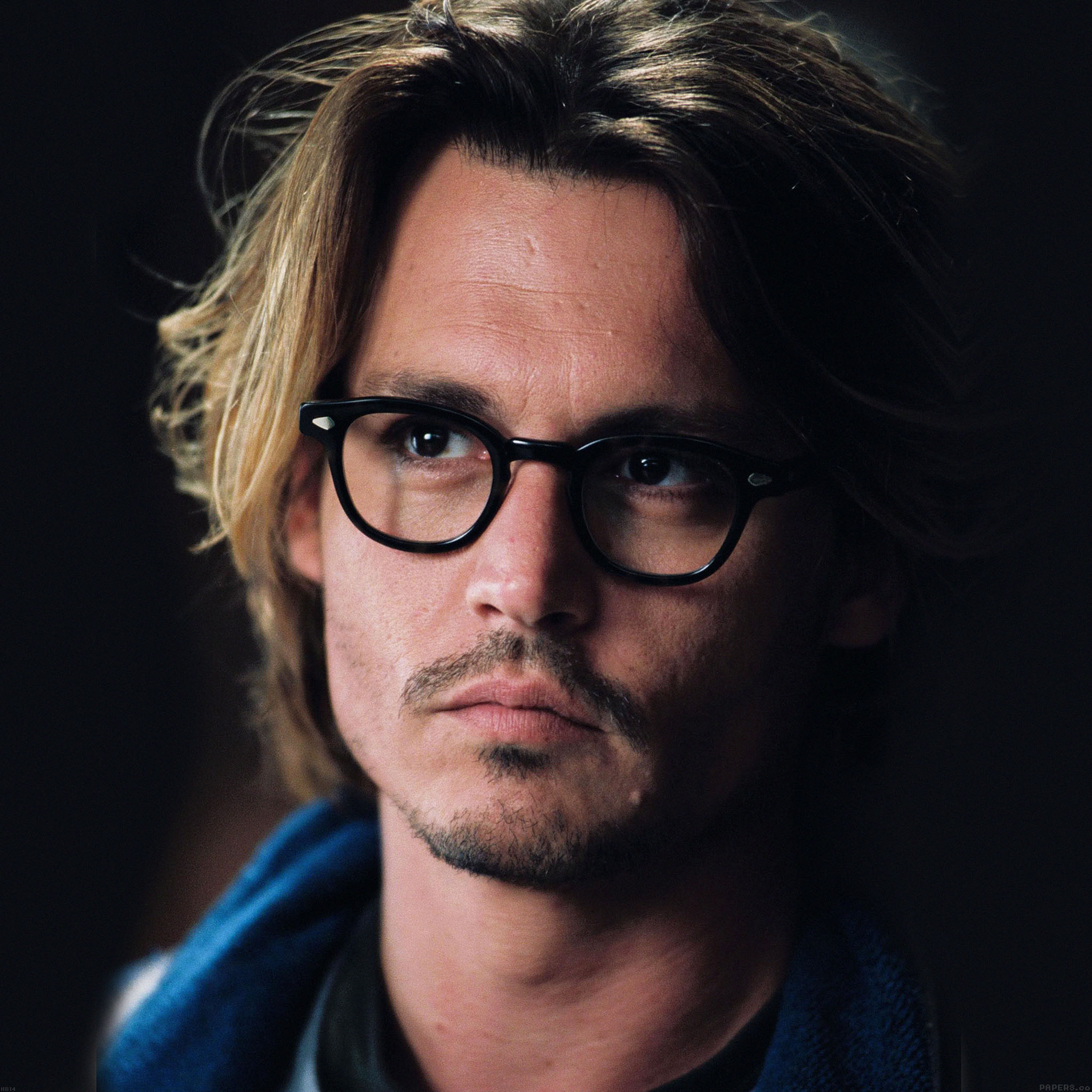 Johnny Depp: Hb14-wallpaper-johnny-depp-glass-film-actor-face