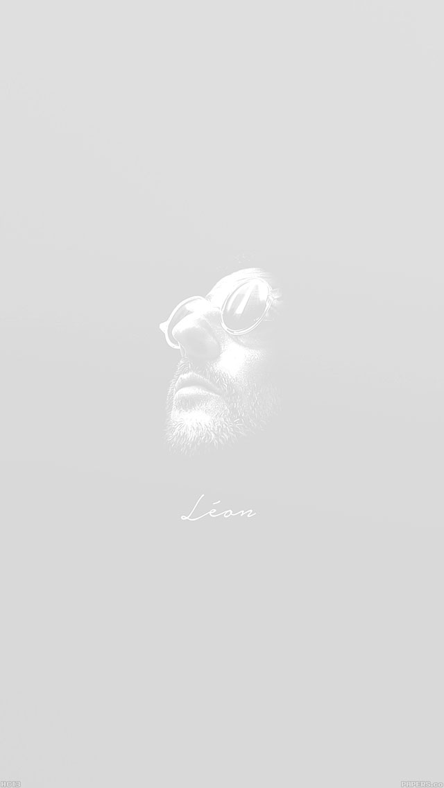 freeios8.com-iphone-4-5-6-ipad-ios8-hc13-leon-face-minimal-white-simple-art