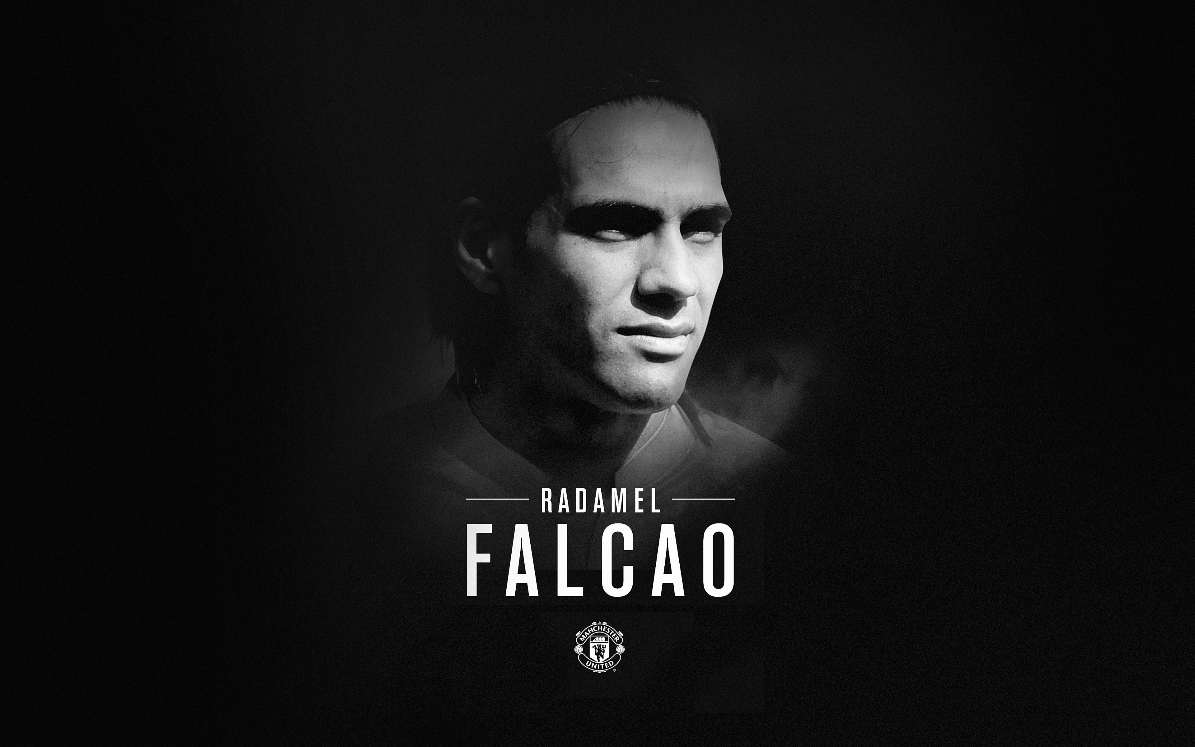 Hc15 Radamel Falcao Bw Manchester United Welcome Papers Co