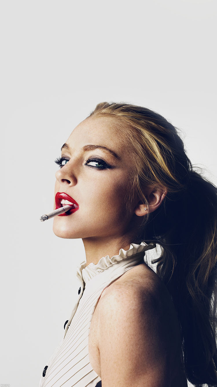 iPhone6papers.co-Apple-iPhone-6-iphone6-plus-wallpaper-hc39-lindsay-lohan-smoking-lips-sexy-actress-celebrity