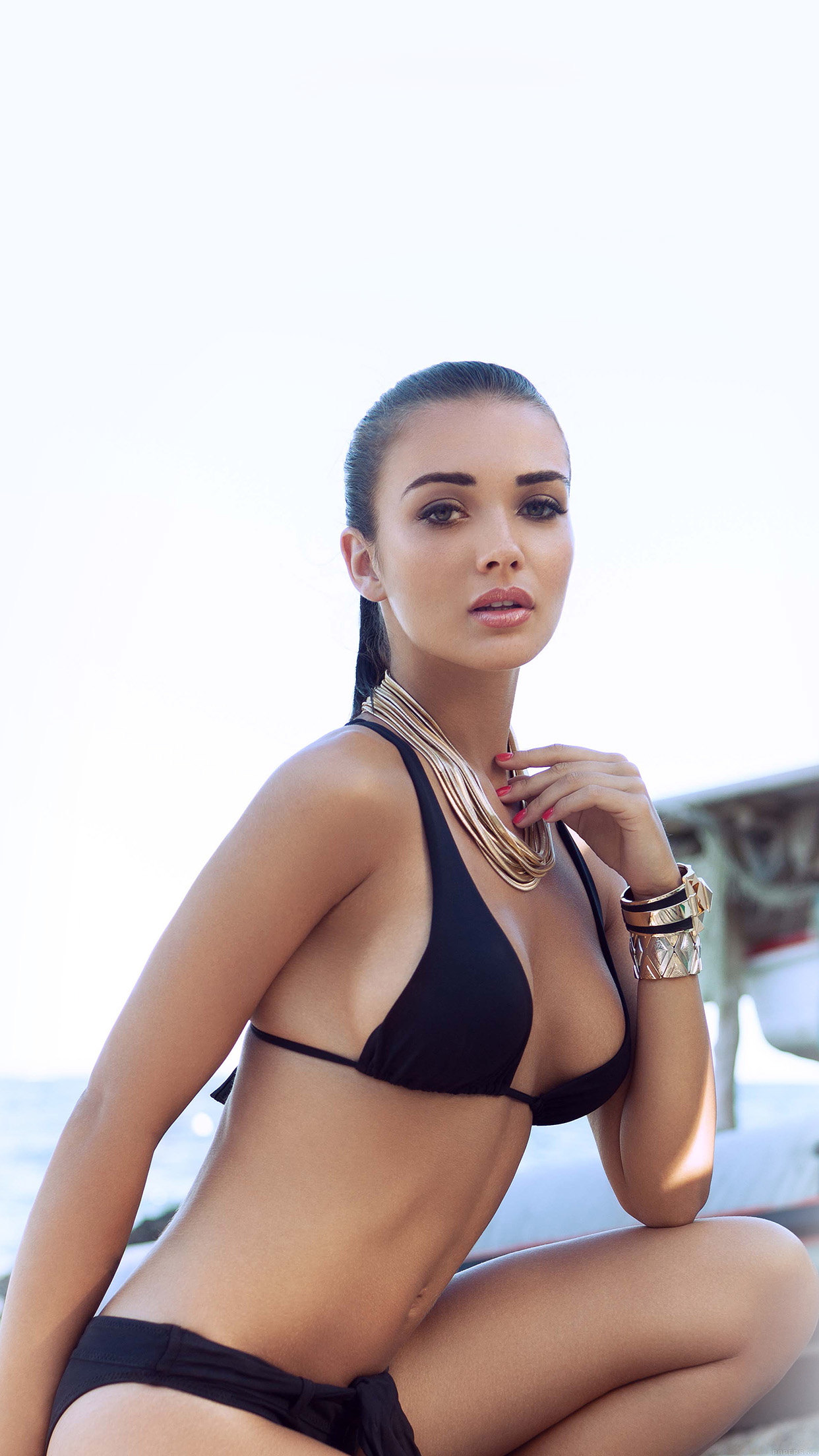 Iphone7papers Hd63 Amy Jackson Bikini Sexy Girl