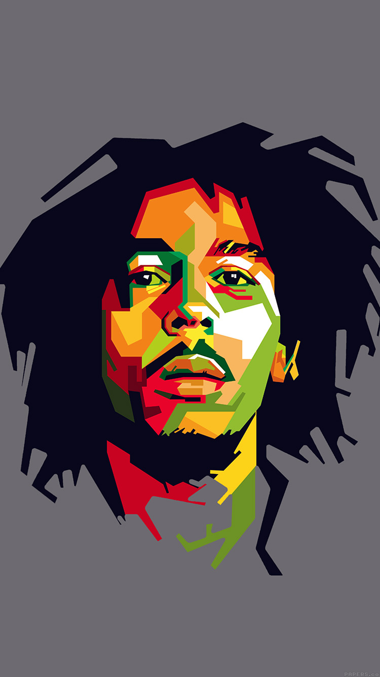 Papers.co-iPhone5-iphone6-plus-wallpaper-he07-bob-marley-art-illust-music-reggae-celebrity