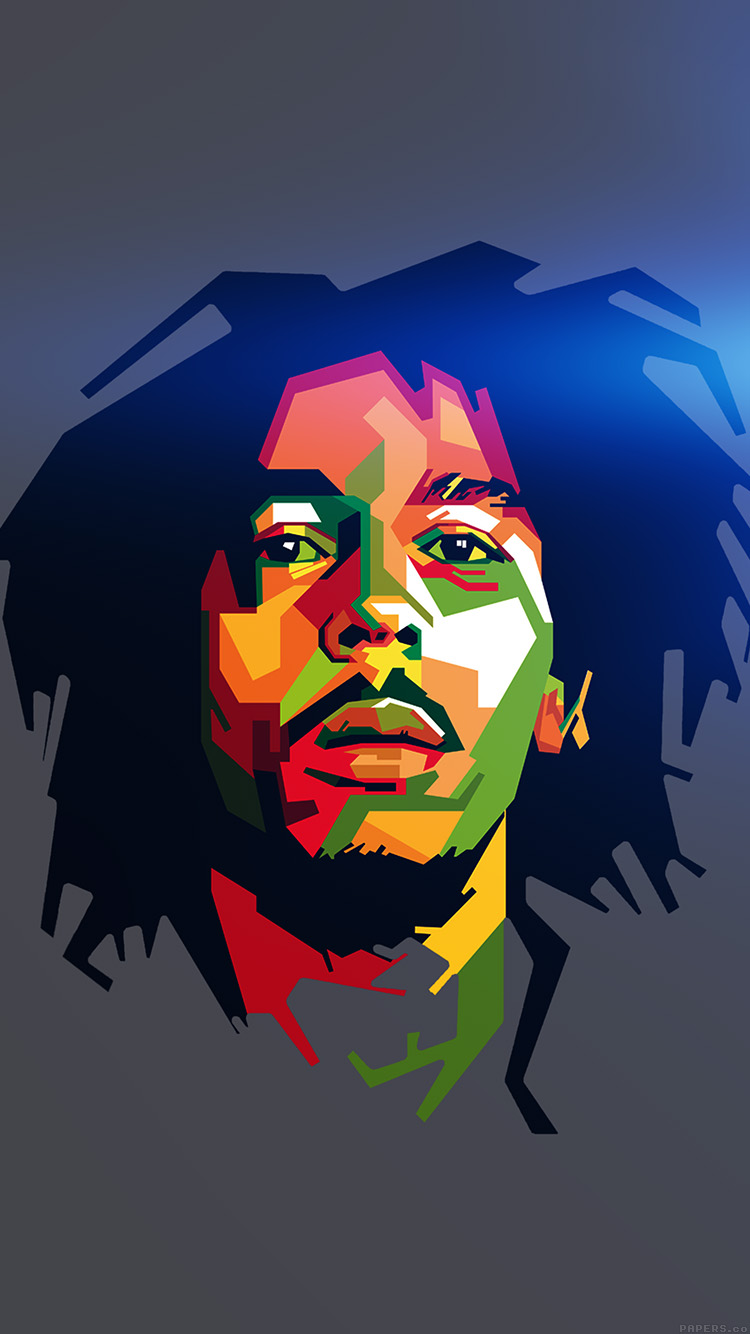 iPhonepapers.com-Apple-iPhone8-wallpaper-he08-bob-marley-blue-art-illust-music-reggae-celebrity