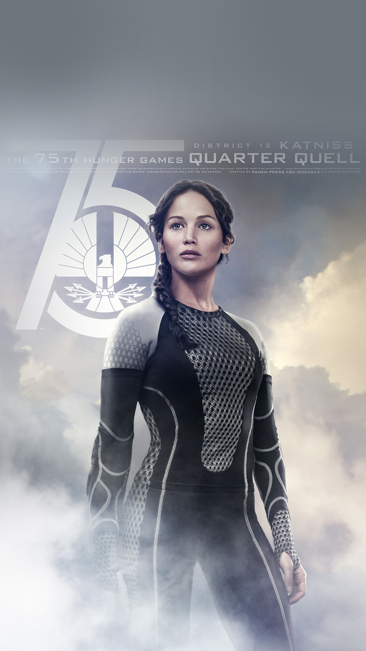 papers.co | iphone wallpaper | he75-hunger-game-jennifer-lawrence