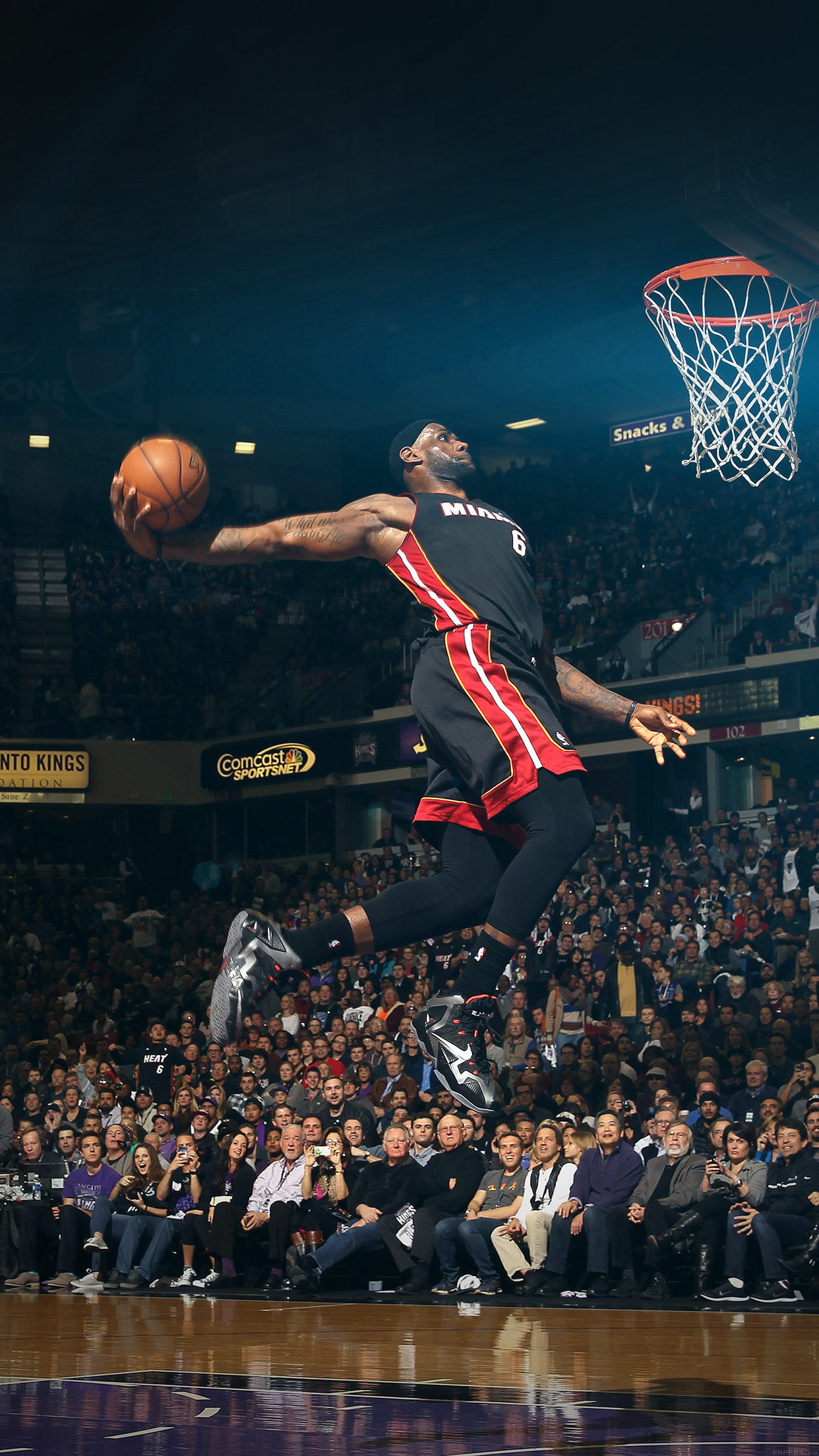 Hf00 Lebron James Dunk Nba Sports Art Flare Basketball