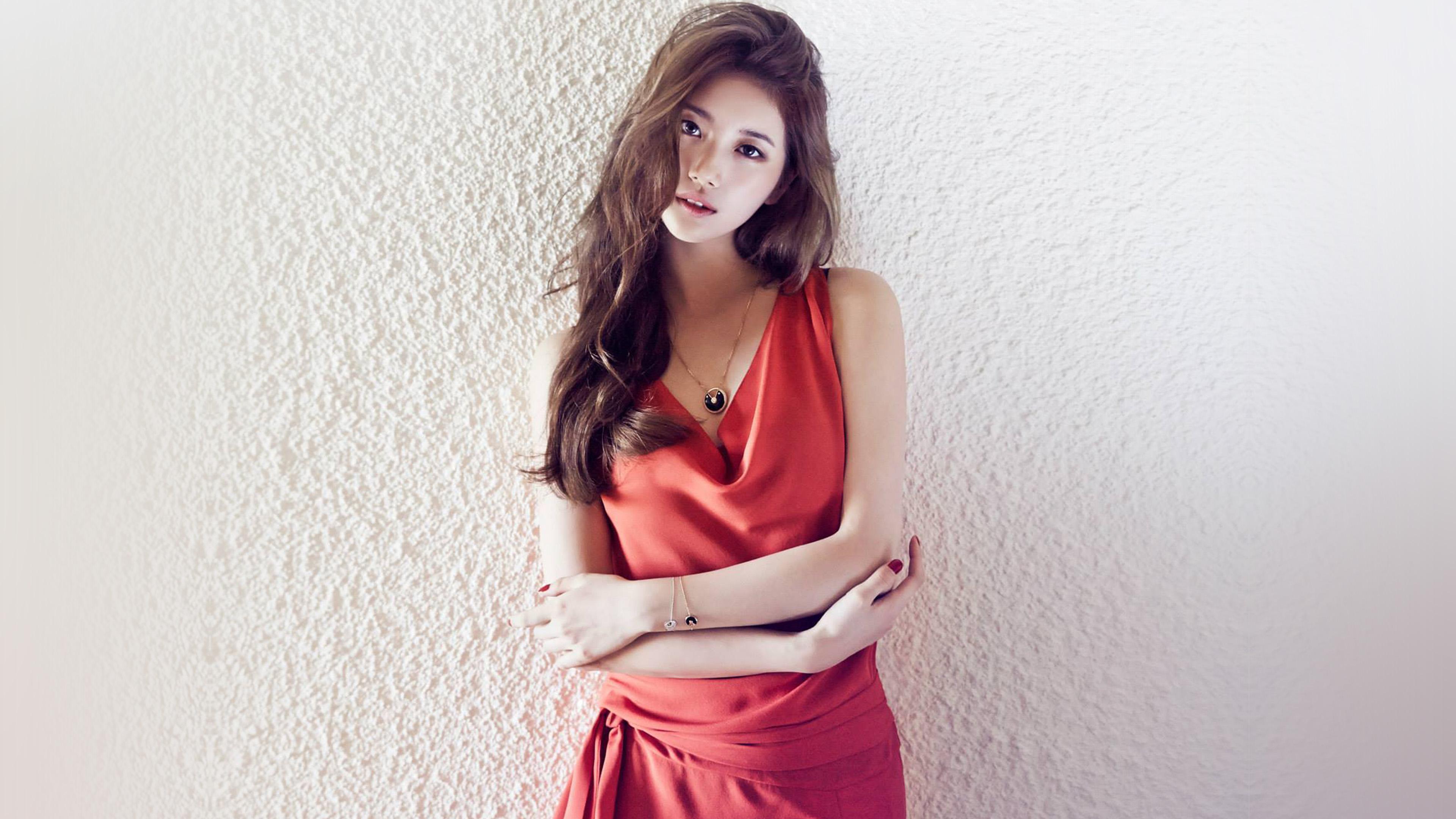 Wallpaper For Desktop Laptop Hf92 Suzy Missa Kpop Red Dress