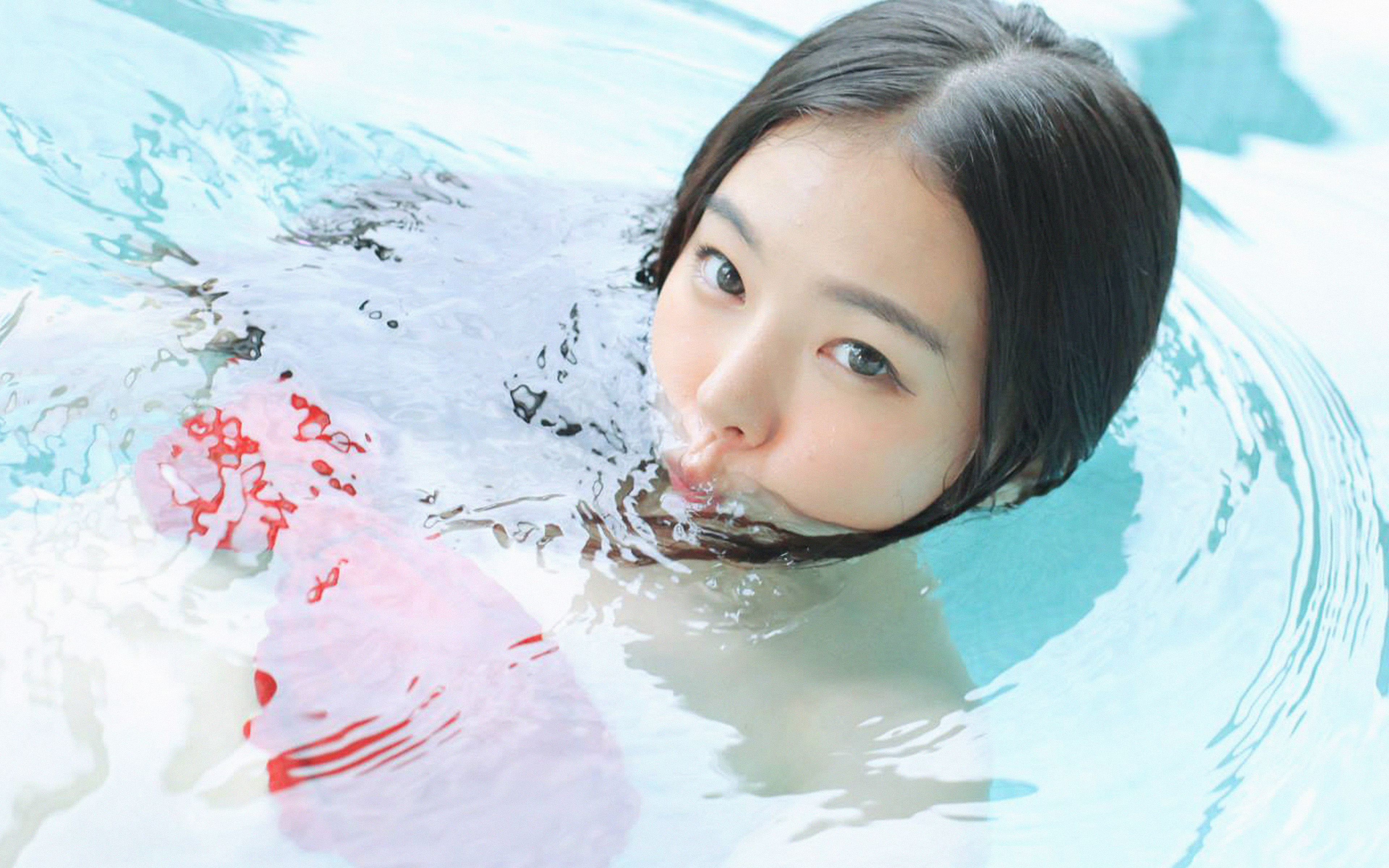 Hg84 Kpop Hanuel Swim Fun Girl Papersco