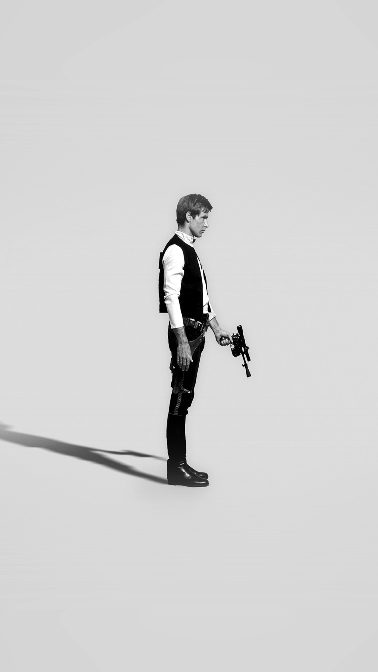 papers.co hh19 han solo starwars hero art minimal bw 34 iphone6 plus wallpaper