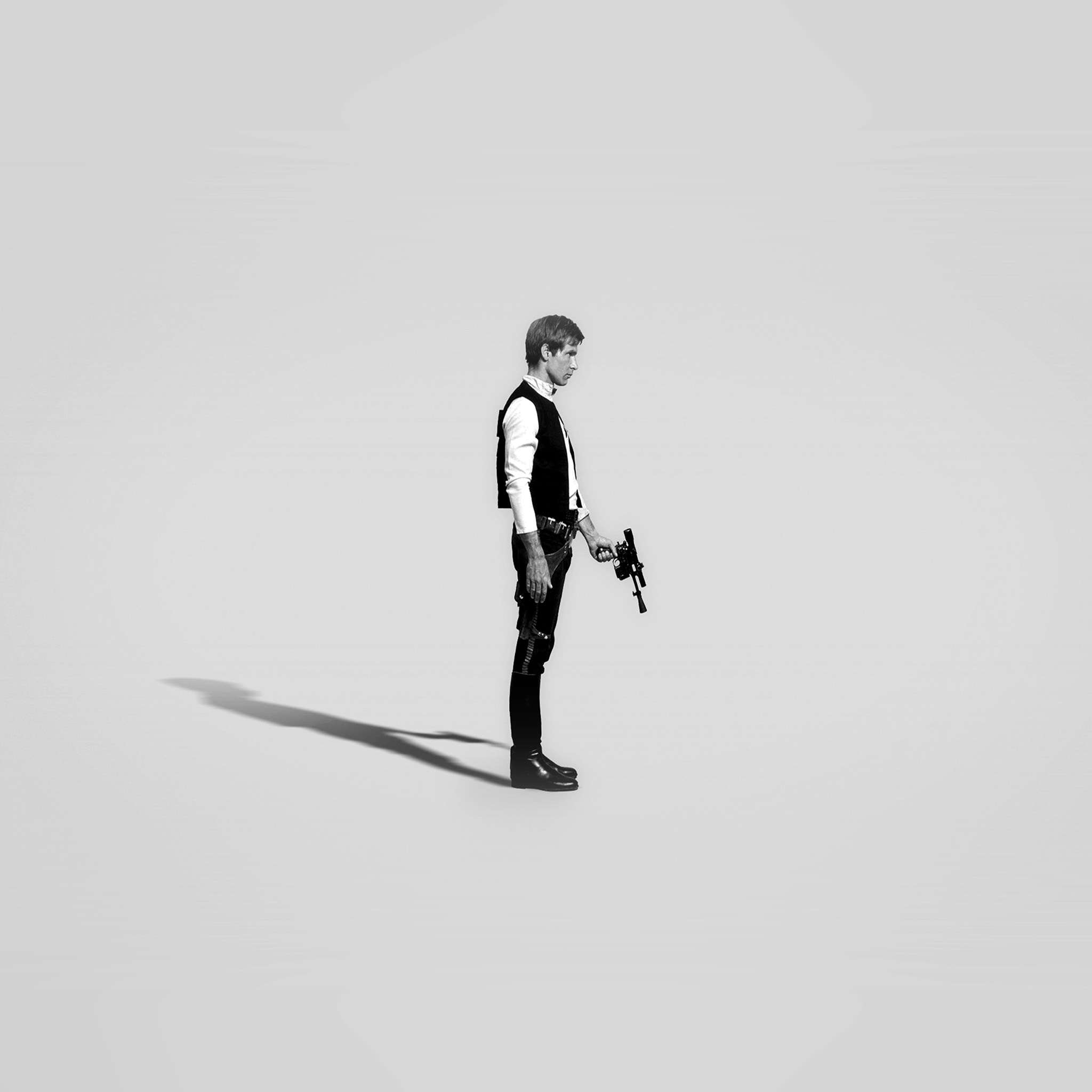 Wallpaper Iphone Minimalist: Hh19-han-solo-starwars-hero-art-minimal-bw