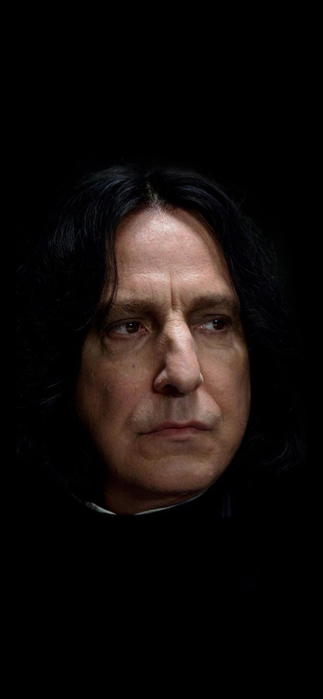 Iphonexpapers Hh31 Snape Harry Potter Alan Rickman Rip Dark