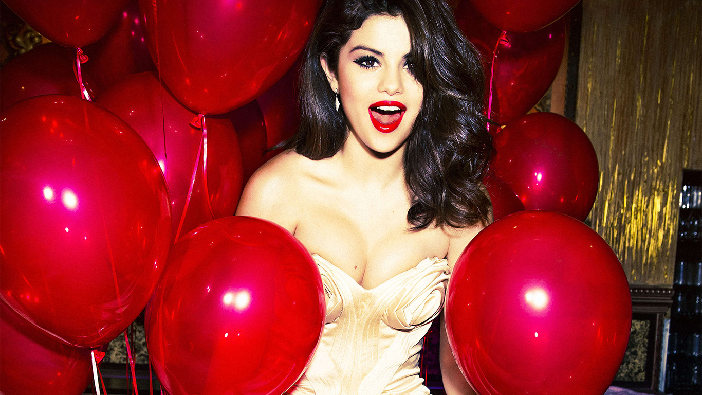 desktop-wallpaper-laptop-mac-macbook-air-hh76-selena-gomez-red-dress-balloon-party-wallpaper