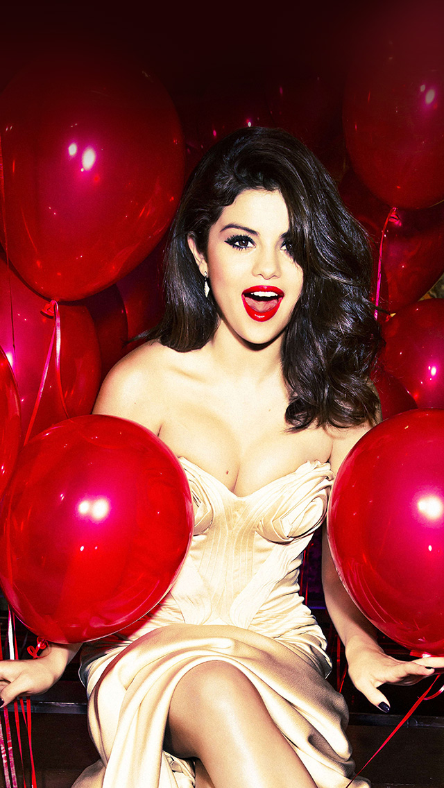 freeios8.com-iphone-4-5-6-plus-ipad-ios8-hh76-selena-gomez-red-dress-balloon-party