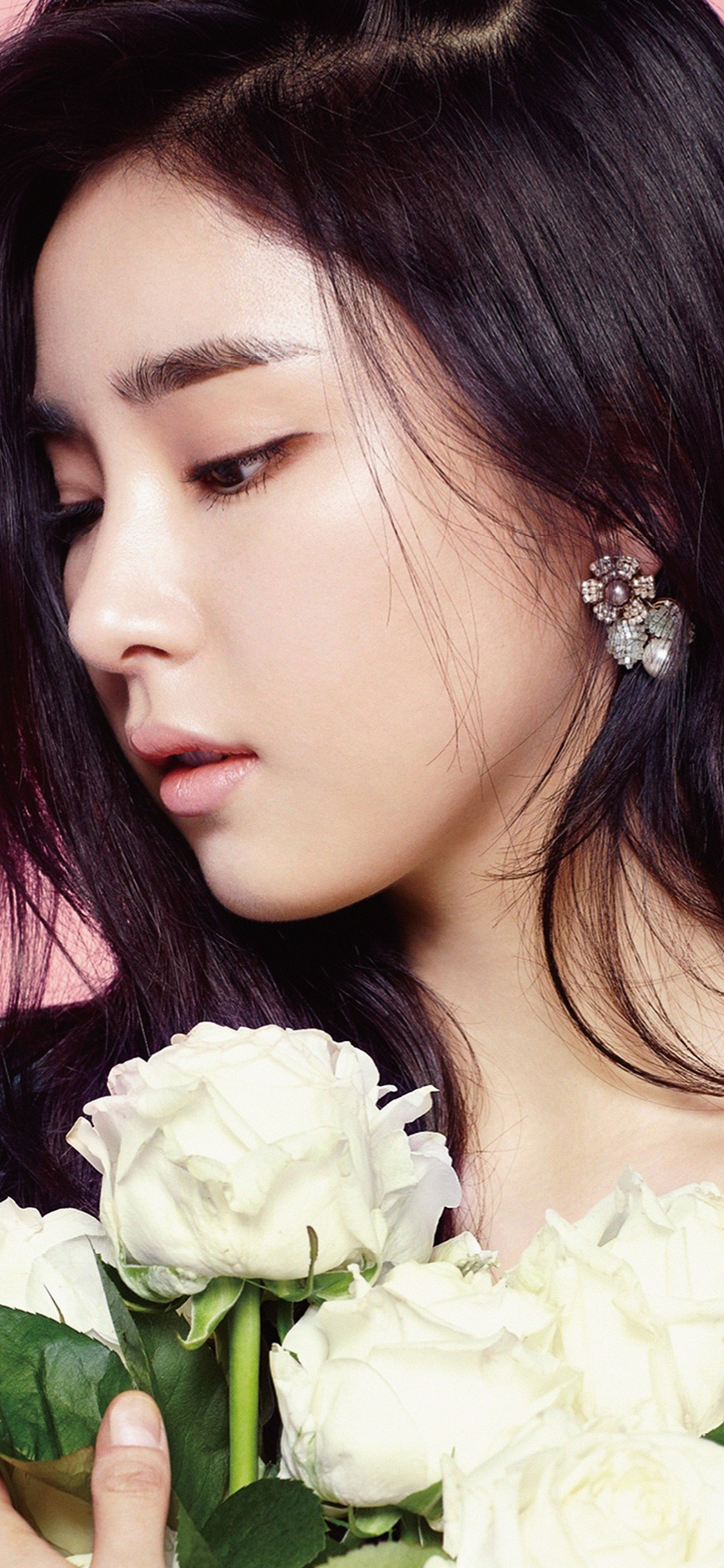 iPhoneXpapers.com-Apple-iPhone-wallpaper-hi26-girl-korean-kpop-saekyung-flower