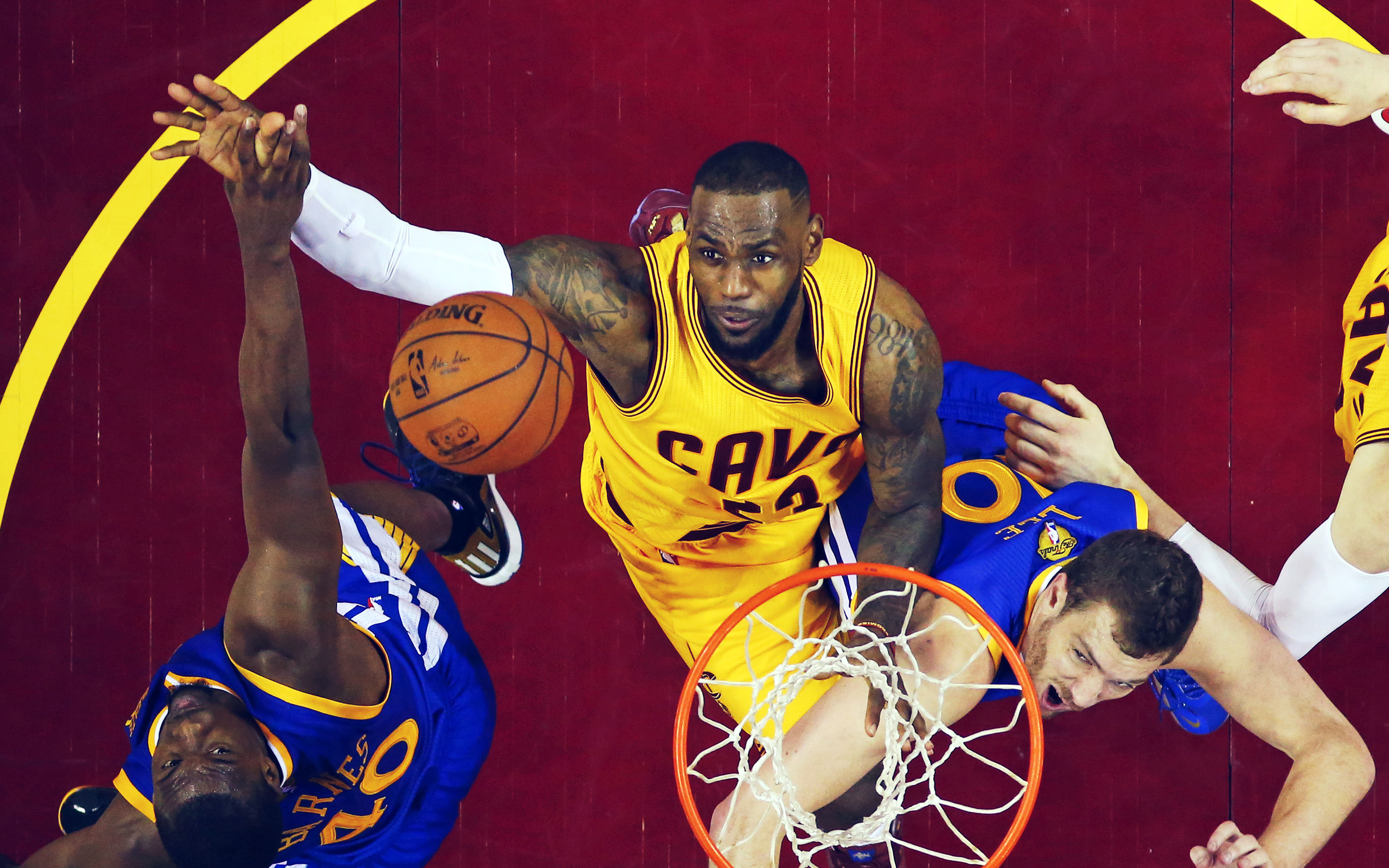 Hj03 Lebron James Nba Basketball Rebound Wallpaper